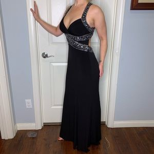 Black evening gown with beading!